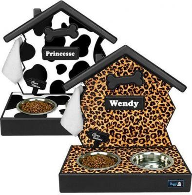 Soporte para comederos personalizados diseño de animales