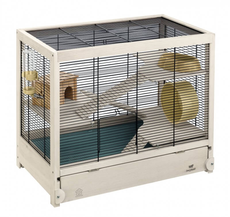 cage en bois hamsterville pour hamster cage hamster. Black Bedroom Furniture Sets. Home Design Ideas