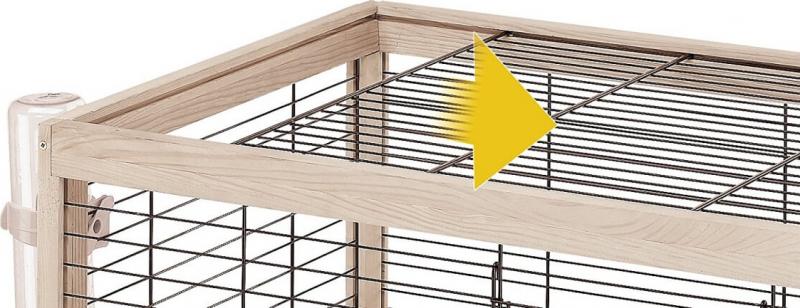 Cage en bois Arena 100 pour Lapin et Cochon d'Inde
