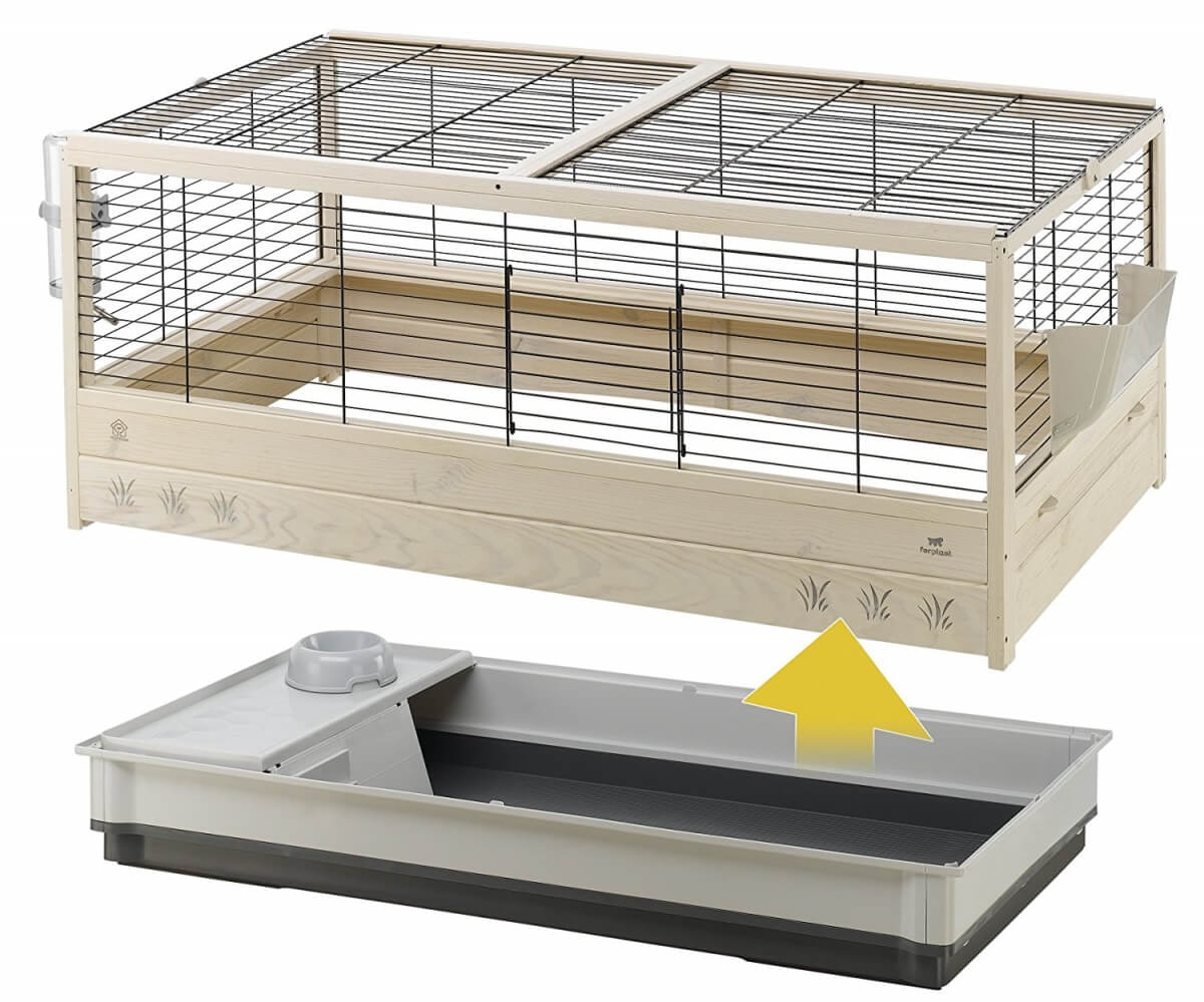 cage en bois arena 120 pour lapin cage lapin. Black Bedroom Furniture Sets. Home Design Ideas
