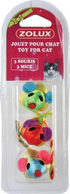 Jouets 3 grandes souris assorties