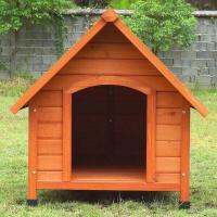 Niche pour chien en bois à toit pointu Akira
