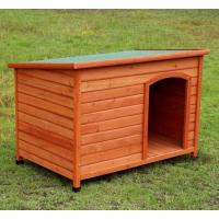 Niche chien en bois à toit plat et rabattable API