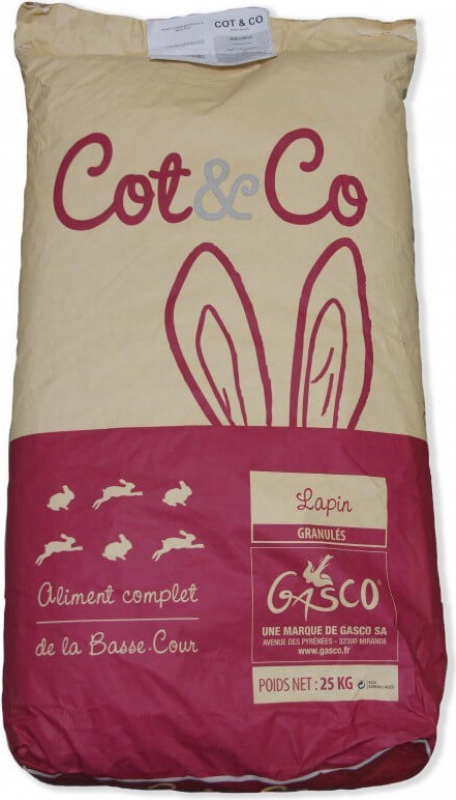Cot & Co Rabbit granules 25kg