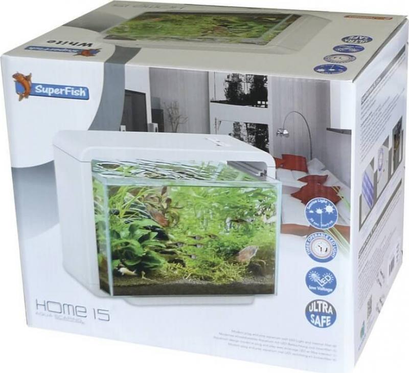 Aquarium blanc & noir home 15