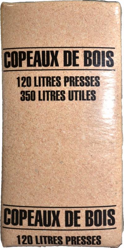 Copeaux Sapin du Nord 120 Litres pressés