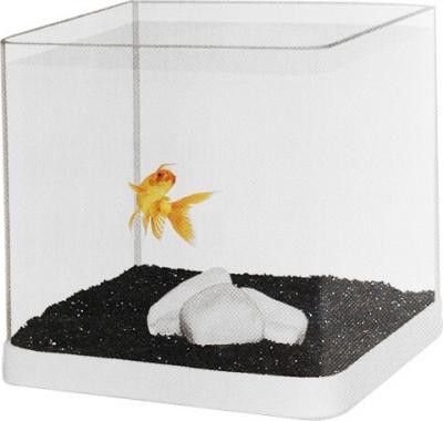 Kit para acuarios con esquinas redondas y 1 kg de arena