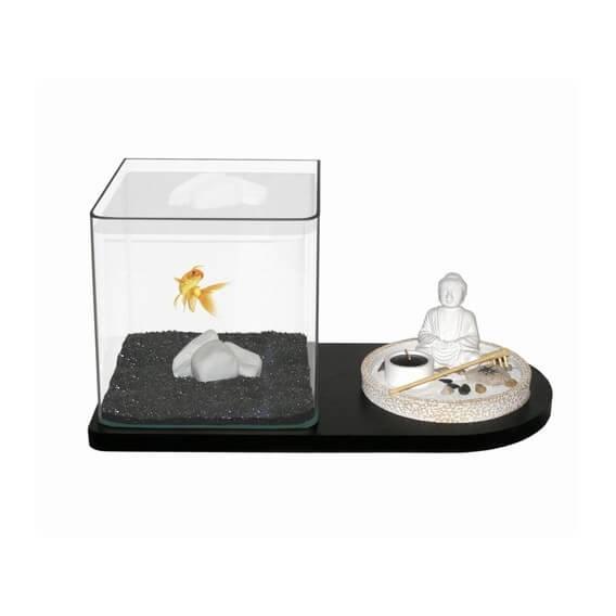 Decoracion Zen Acuario ~ Kit acuario Zen + 1 kg de arena con soporte Kit acuario Zen + 1 kg de