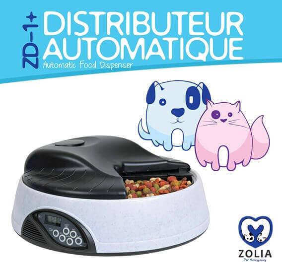 Distributeur automatique de croquettes ZOLIA ZD-1+_1