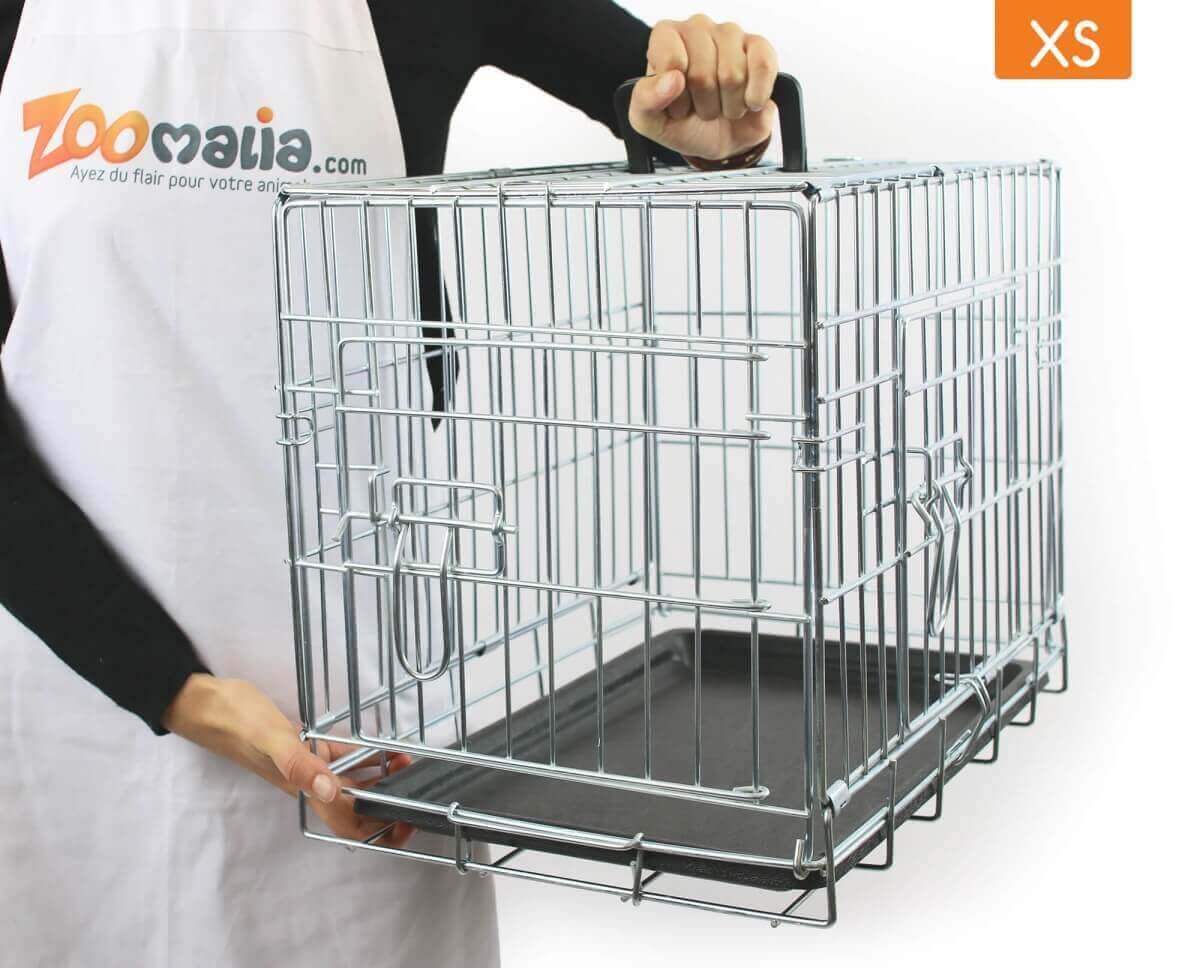 Jaula de metal para transporte con doble puerta plegable   _3