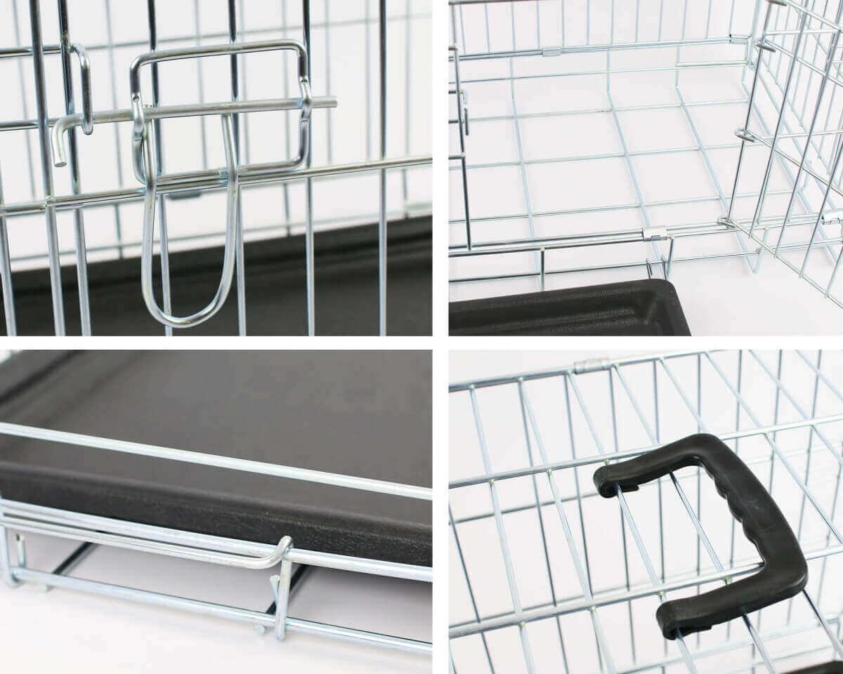 Jaula de metal para transporte con doble puerta plegable   _8