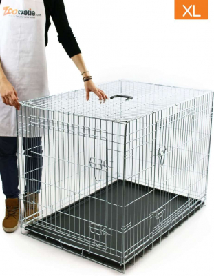 Cage de transport pour chien ZOLIA KODA avec fond plastique noir