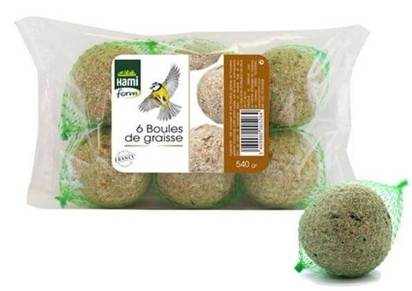 Lots de boules de graisse pour oiseaux de la nature nourriture oiseaux - Porte boule de graisse pour oiseaux ...