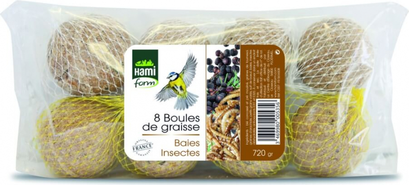 Boules de graisse Baies et Fruits (par 8)