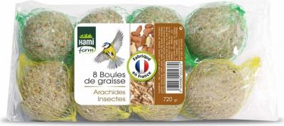 Boules de graisse Arachides et Insectes (par 8)
