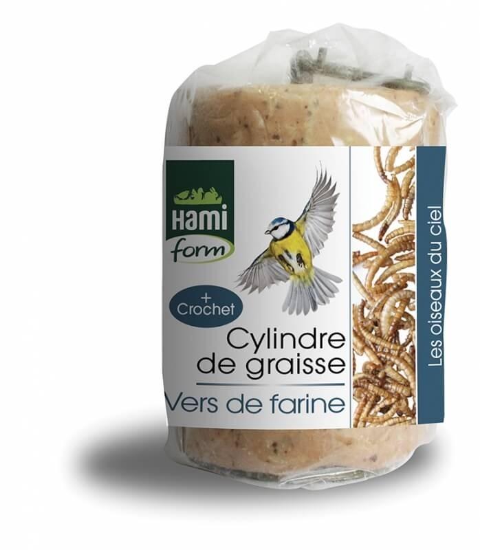 Cylindre de graisse aux vers de farine pour oiseaux du ciel_0