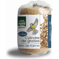 Cylindre de graisse aux vers de farine pour oiseaux du ciel