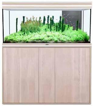 aquarium aqua fusion led noyer clair aquarium et meuble. Black Bedroom Furniture Sets. Home Design Ideas