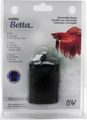Chauffe-eau submersible 8 watts pour aquarium Marina betta Kit