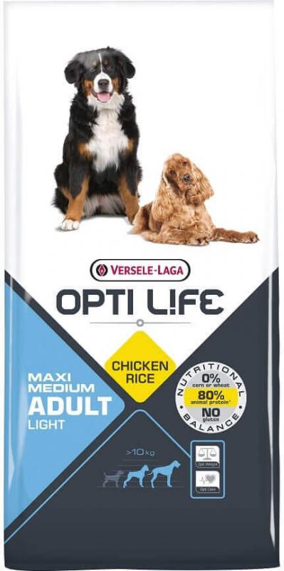 OPTI LIFE Maxi & Medium Light poulet