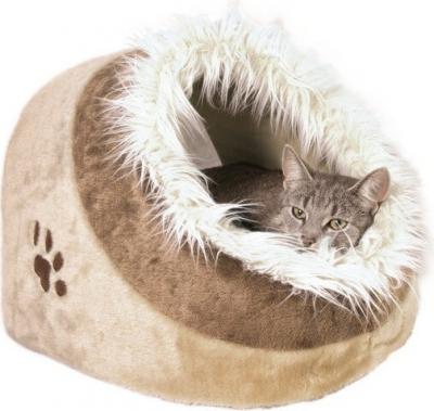 Cueva refugio para gato mullida Minou beige