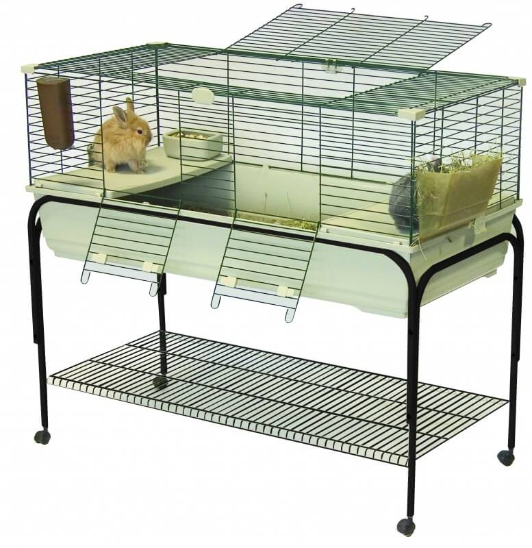 cage pour lapins et cochons d 39 inde robin 120 cm beige support roulettes cage lapin. Black Bedroom Furniture Sets. Home Design Ideas