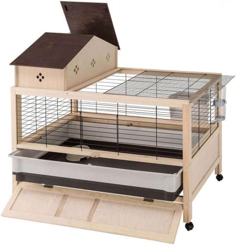 Cage en bois Arena 100 Plus pour Lapin et Cochon d'Inde_1