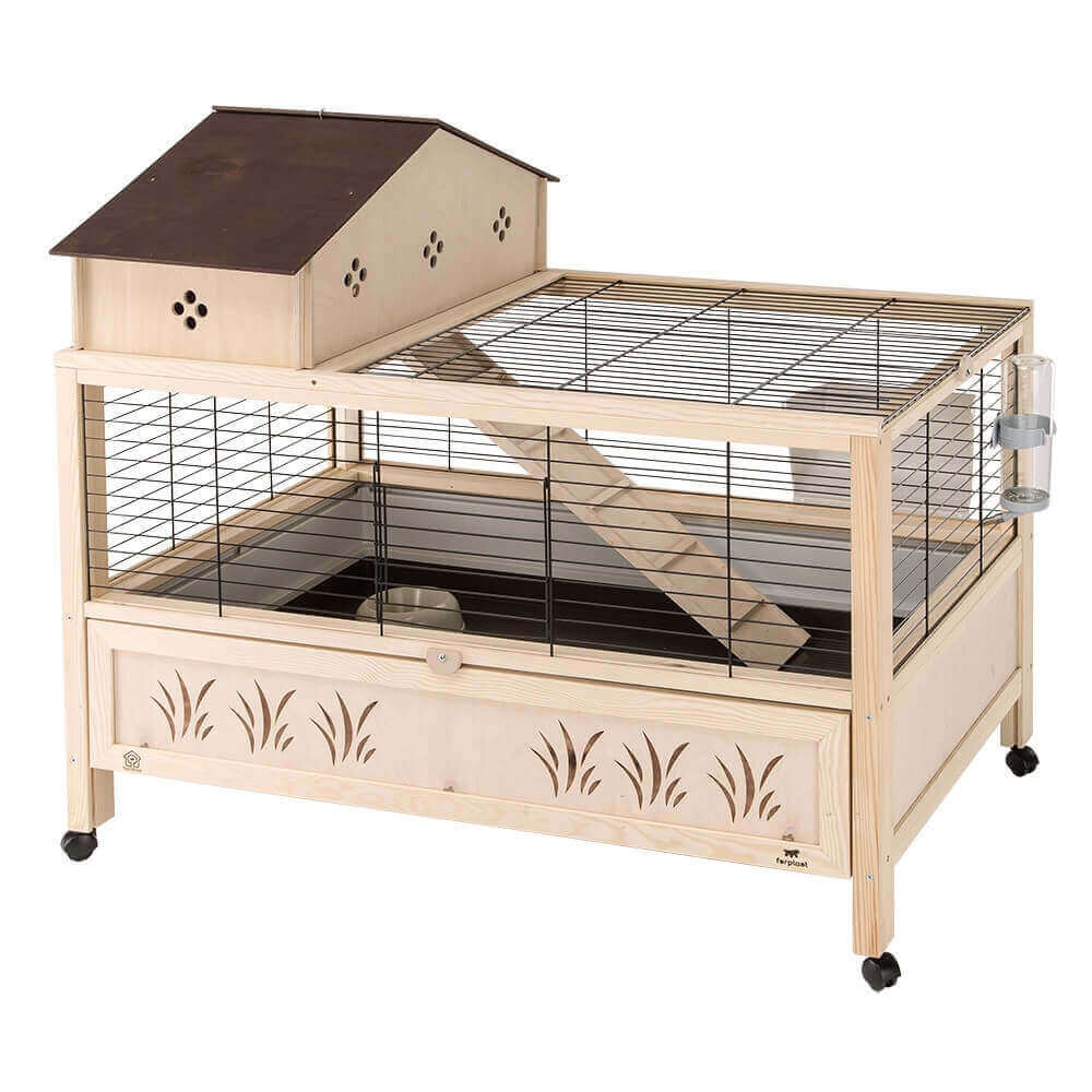 cage en bois arena 100 plus pour lapin et cochon d 39 inde. Black Bedroom Furniture Sets. Home Design Ideas