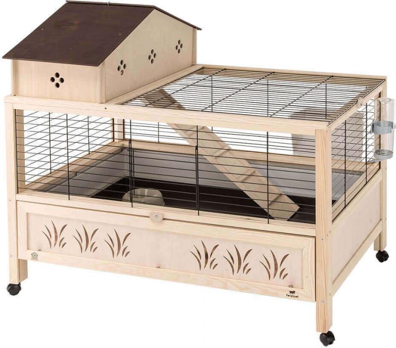 cage en bois arena 100 plus pour lapin et cochon d 39 inde