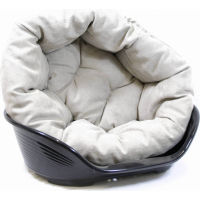 Plastic Dog Bed With Luxury Fitted Cushion SOFA Prestige