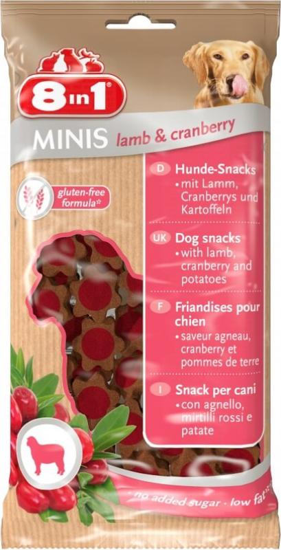 Friandises pour chien 8en1 MINIS Agneau et Cranberry