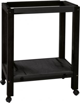Support de cage en bois noir SUMET 53