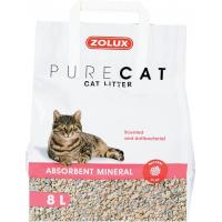 Litière minérale chat PURECAT absorbante parfumée 8L