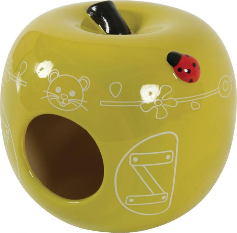 Nid c ramique pomme maison pour rongeur for Pomme ceramique pour decoration