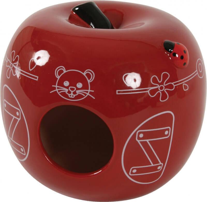 Nido de cerámica con forma de manzana_2