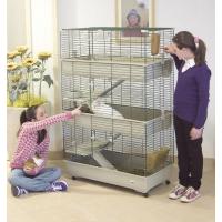 Jaula para conejos, cobayas y hurones 100 cm,. 3 alturas, color beige