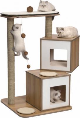 Árbol para gatos V-Doble Nogal