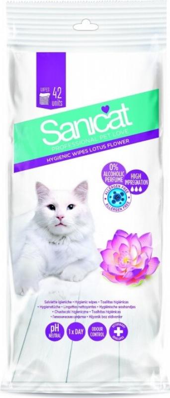 Lingettes pour chat -fleur de lotus