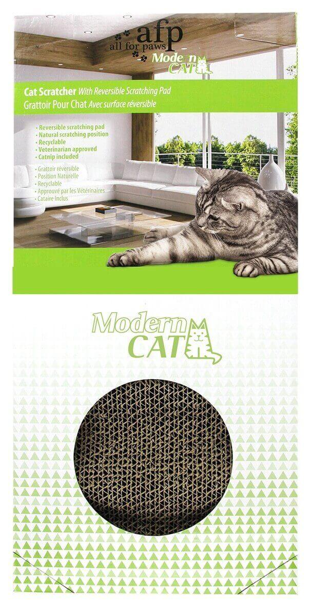 Griffoir en carton pour Chat avec herbe à chat _2