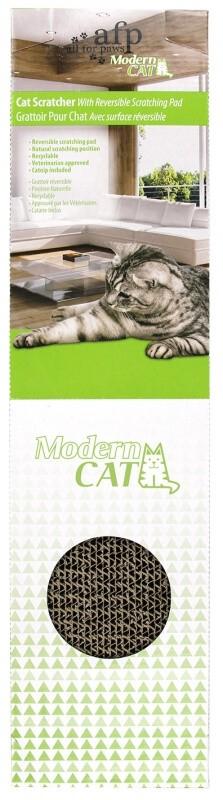 Griffoir en carton pour Chat avec herbe à chat _1