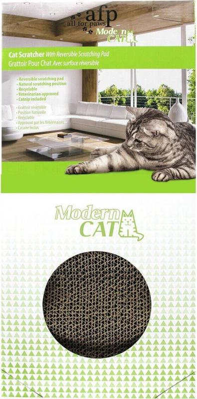 griffoir en carton pour chat avec herbe chat. Black Bedroom Furniture Sets. Home Design Ideas