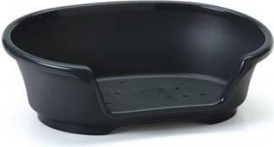 Cama de plástico negra de 50 a 104 cm