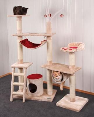 Árbol para gatos Creativo  beige y rojo