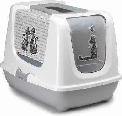 Maison de toilette XXL pour grand chat CAT'S IN LOVE