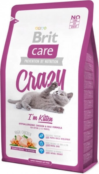 Brit Care Cat Crazy I'm Kitten au Poulet pour Chaton