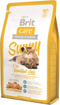 Brit Care Cat Sunny I've Beautiful Hair au Saumon pour Chat à Poils longs