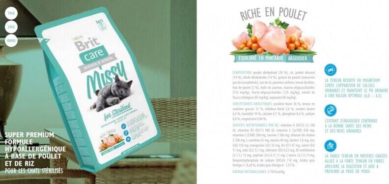 Brit Care Cat Missy for Sterilised au Poulet pour chat Stérilisé