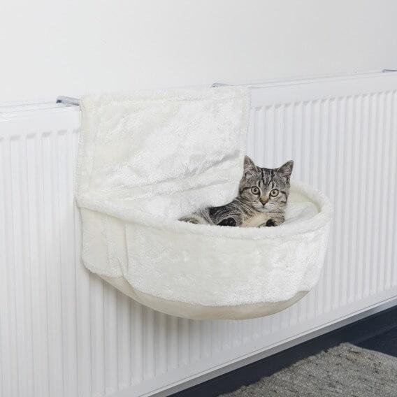 Hamac de radiateur en peluche pour chat