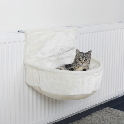 Sac confort de radiateur en peluche pour chat
