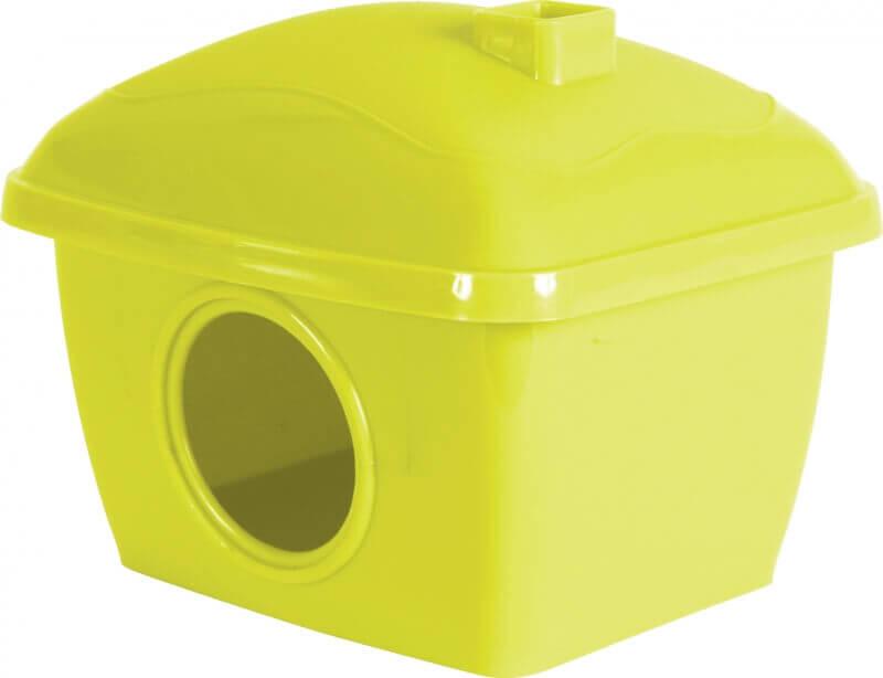Huis voor hamsters in rood of groen kunststof